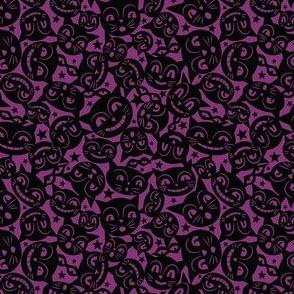 Black Cat Mask on Purple