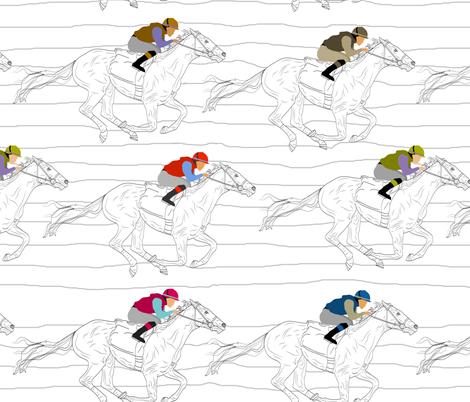 The Race fabric by inkysunshine on Spoonflower - custom fabric