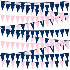 Baby Girl Bunting-Navy