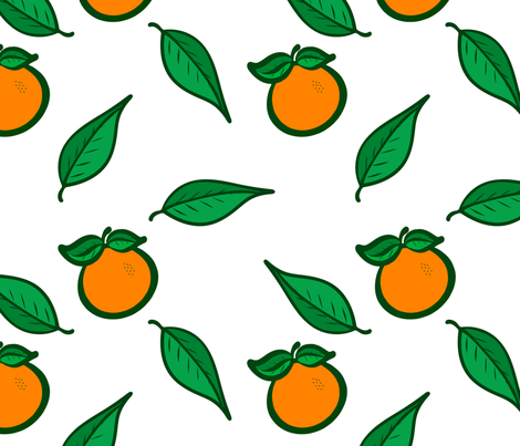 Fresh Picked Oranges 2 fabric by bags29 on Spoonflower - custom fabric