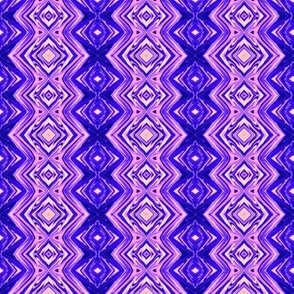 GP5 - small -  Geometric Pillars in Blue - Purple - Lavender - Pink