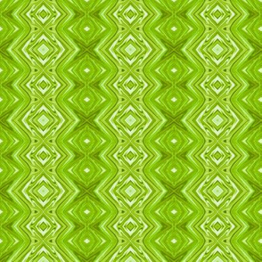 GP14 - Geometric Pillars in Lime Green Monochrome