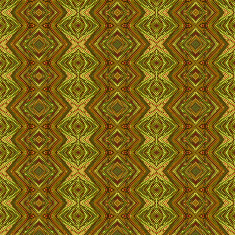 GP13 -  Geometric Pillars in Olive Green and Pale Tan fabric by maryyx on Spoonflower - custom fabric