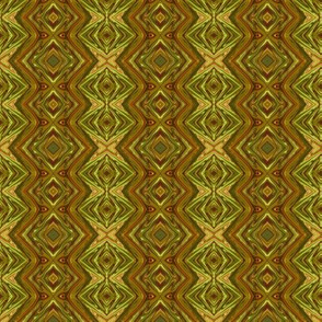 GP13 -  Geometric Pillars in Olive Green and Pale Tan