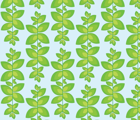lglighterleafblubkgrnd fabric by kat_artist on Spoonflower - custom fabric