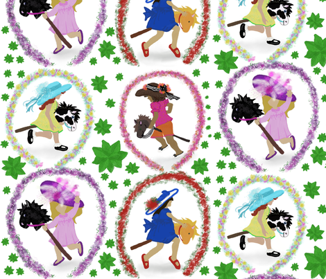 Hats off to the races fabric by tracydb70 on Spoonflower - custom fabric