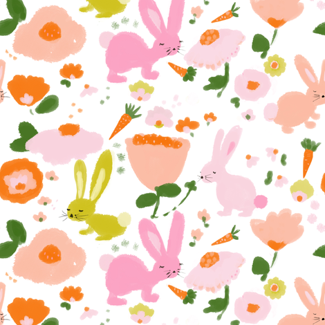 spring bunnies fabric by alison_janssen on Spoonflower - custom fabric