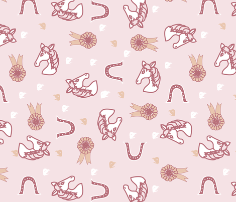 Horse Race scattered fabric by pamelachi on Spoonflower - custom fabric