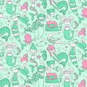 Watergirls Mint/Pink X-Small