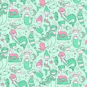 """Watergirls Mint/Pink 3"""""""