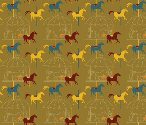 Horse Carousel Fun fabric by whyitsme_design on Spoonflower - custom fabric