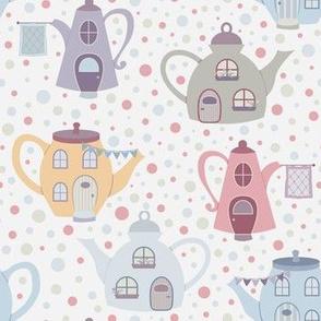 Teapot Fairy Houses