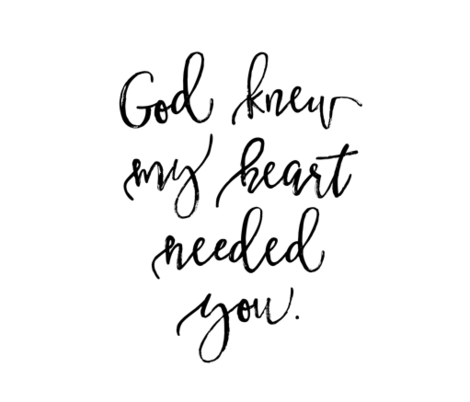 cotton FQ: god knew my heart needed you fabric by ivieclothco on Spoonflower - custom fabric