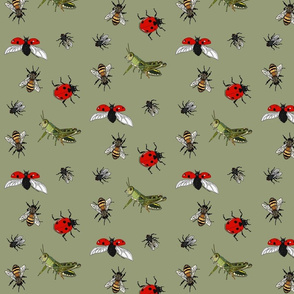 Insect repeat pale green
