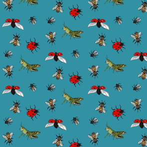 Insect repeat turquoise