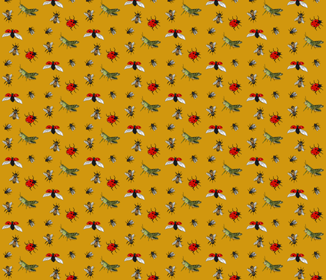 Insect repeat honey fabric by coppercatkin on Spoonflower - custom fabric