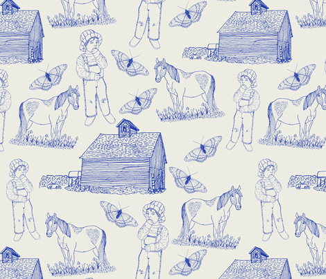Farm Boy fabric by pamelachi on Spoonflower - custom fabric