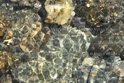 Riverbed pebbles
