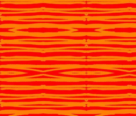 Hatari Orange & Ochre 31 fabric by tabasamu_design on Spoonflower - custom fabric