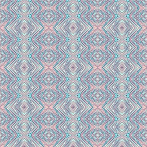 GP12 - Geometric Pillars in Pastel Pink and Blue