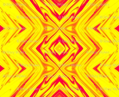 GP2 - Geometric Pillars of Fire - Yellow - Red