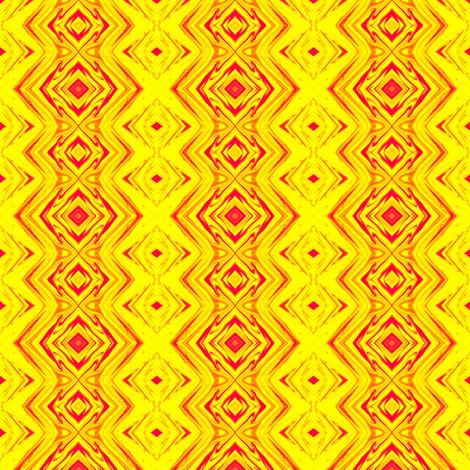 GP2 - Geometric Pillars of Fire - Yellow - Red fabric by maryyx on Spoonflower - custom fabric