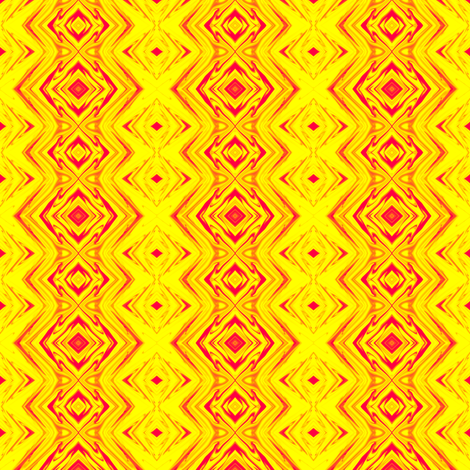 Yellow and Red Geometric Pillars of Fire fabric by maryyx on Spoonflower - custom fabric