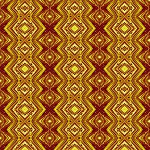 GP9 - Geometric Pillars in Rusty Brown and Golden Yellow