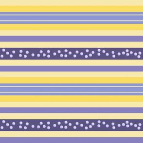 FNB1 -  Fizz-n-Bubble Lemon and Violet Stripes - Large - Crosswise