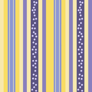 FNB1 -  Fizz-n-Bubble Lemon and Violet Stripes - Large - Lengthwise