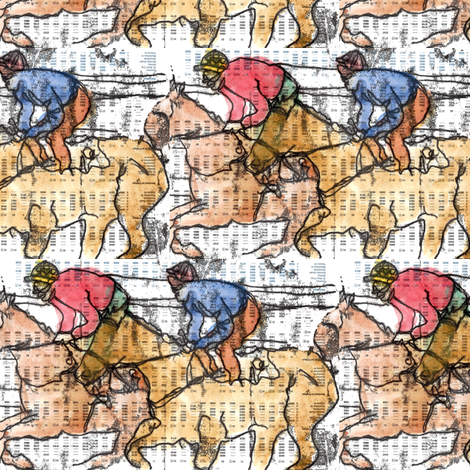 riders fabric by marigoldpink on Spoonflower - custom fabric