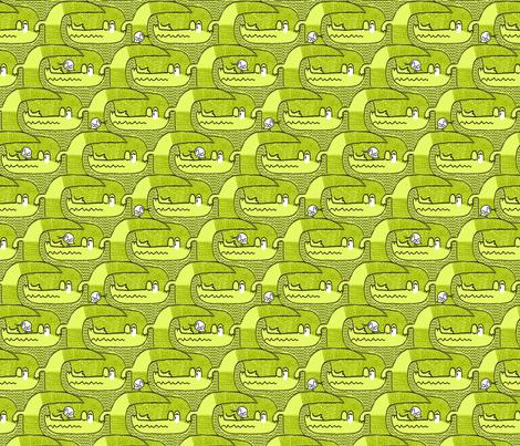 See you later, Alligator!/Green fabric by iryna_ruggeri on Spoonflower - custom fabric