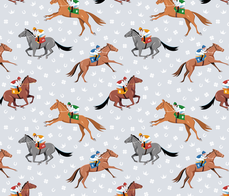 A day at the races fabric by overbye on Spoonflower - custom fabric