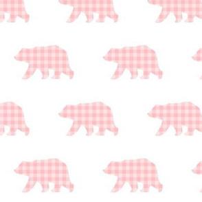 Bear Walk - Soft Pink Plaid