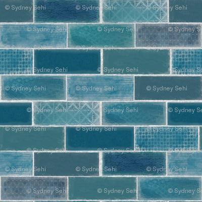 Mini Tile in Blue