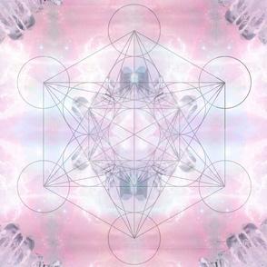 21x21Crystals&Clouds Crystal Grid or Tarot Cloth