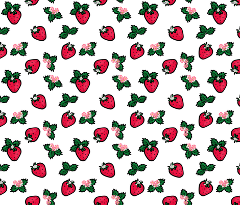 Strawberry Garden 2 fabric by bags29 on Spoonflower - custom fabric