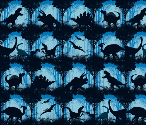 Dino-monotone-hues fabric by gnarllymamadesigns on Spoonflower - custom fabric