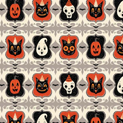 Ghost Frame Spooks  fabric by johannaparkerdesign on Spoonflower - custom fabric