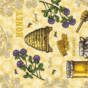 Tea Towel - Honey Lg