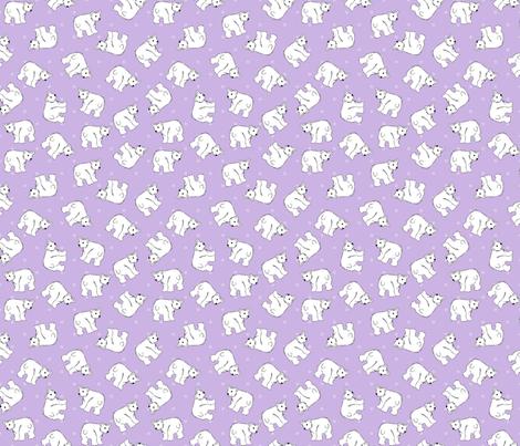 Polar Bears On Lavender 2 fabric by bags29 on Spoonflower - custom fabric
