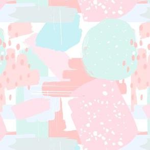 Abstract pastel ice cream