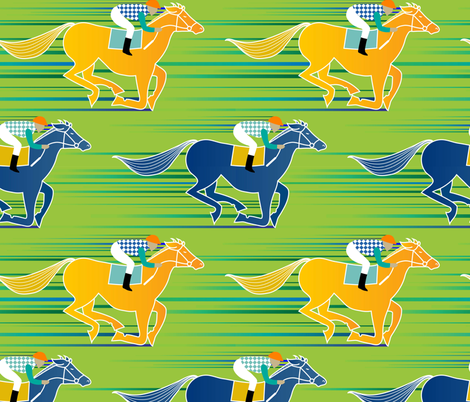 And...they're off! fabric by vo_aka_virginiao on Spoonflower - custom fabric