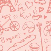 Parisian Vacation (pink on pink)
