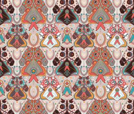 win place or show in sweet cream fabric by beesocks on Spoonflower - custom fabric