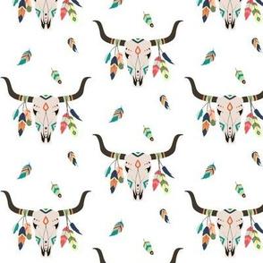 Tribal Bison Skull - Southwest Nursery Boys