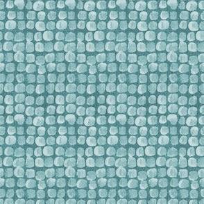Teal Stones tuscan mosaic