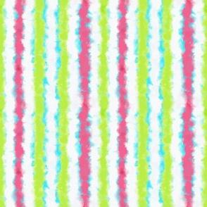 Fuzzy Watercolor Stripe in Pastel Colors