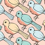 Pastel songbirds