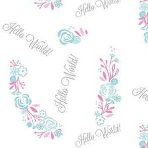 hello world shabby chic rose bliss 7 - mint pink